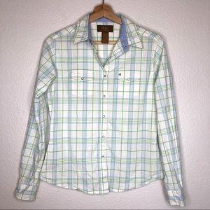 Wrangler Aura Plaid Pearl Snap Button Down Shirt